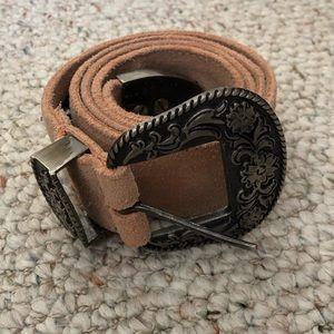 Free People western leather belt
